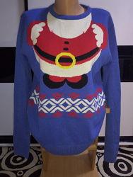 Новогодний свитер, санта клаус, дед мороз. ho, ho, ho