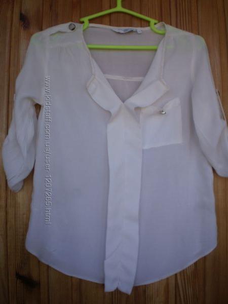 Легкая натуральная блузка бренда New Look