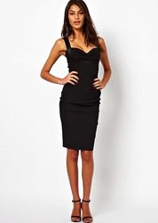 Універсальне базове чорне плаття футляр S-М