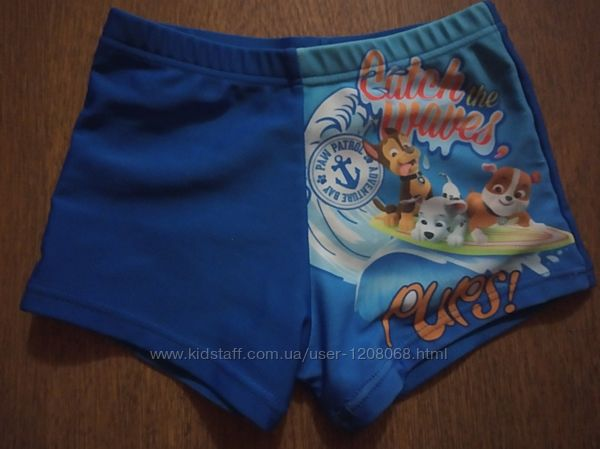 Плавки шорты для плаванья paw patrol щенячий патруль