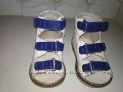 Ортопедические лечебные кожаные сандали , босоножки, 20 размер