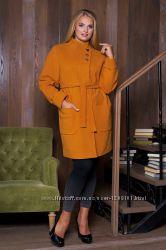 Женское кашемировое пальто Осень 2017. Большие размеры, баталы,