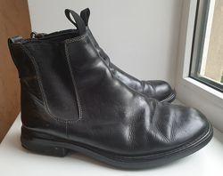 Ботинки мужские кожаные Timberland, Челси , черные , классические, 9, 5w