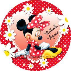 Мини Маус Minnie Mouse тарелки, гудки, скатерть, трубочки, гирляндаПразднич