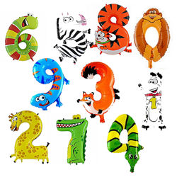 Цифры зверюшки животные котик, собачка, крокодил, жираф. обезьяна
