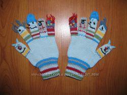 Новые перчатки на мальчика 4-5 лет.