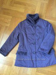 Куртка деми серо-сиреневая