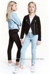 H&M джинсы супер-скинни Голубые Чёрные