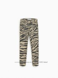 ZARA джинсы с принтом Zebra