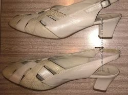 Бу белые немецкие кожаные босоножки фирмы Ara, 39-40 разм.