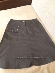 Темно-коричневая женская юбка
