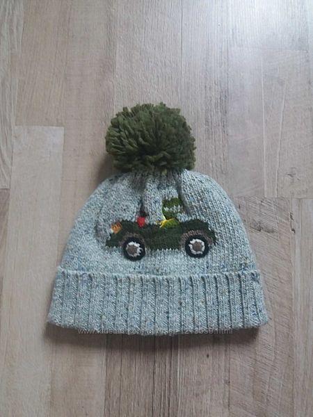 Теплая шапка на мальчика Next Некст 1-2года.