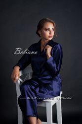 Пижама женская шелковая. Цвет синий сапфир. Натуральный шелк