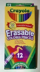 Цветные карандаши Crayola с резинкой для стирания, Америка