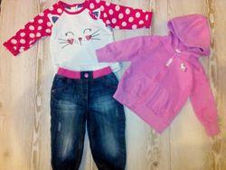 Комплект одежды для девочки next, matalan, mothercare