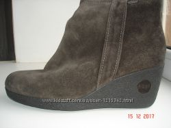 Сапоги шикарные замшевые на натуральном мехуGore-Tex Hogl 40-27 см