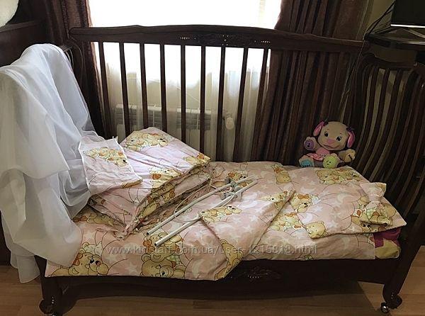 Детское постельное белье Мишки спят балдахин набор
