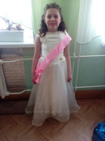 Платье выпускное карнавальное для девочки 8-10 лет