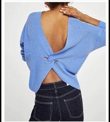 Mango свитер с оригинальной спинкой