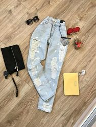 Рваные джинсы манго. размер м