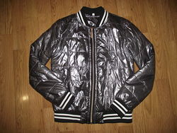 Куртка - бомбер серебро 146 см