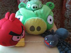 Набор подушек Angry Birds и Minecraft