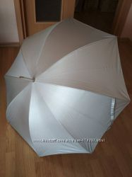 Зонт серебристый большой