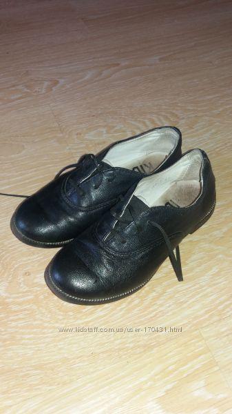 Туфли школьные-натур. кожа