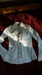 Классическая белая блуза рубашкаTally Weijl  размер xs