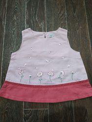 Новая Майка топ Arthur&Felicie 92см вышивка блузка