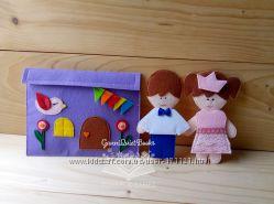 Кукла из фетра с комплектом одежды