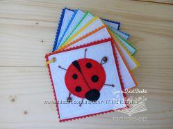 Радужные карточки для малышей - развивающая сенсорная игрушка