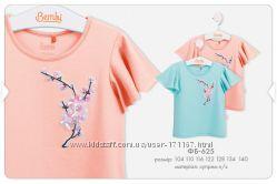Летние футболки Бемби для девочек, от 3 до 9 лет