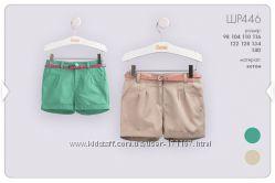 Летние шорты ТМ Бемби для девочек, от 3 до 8 лет
