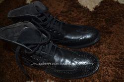 Шикарние Иальянские ботиночки -оксфорди из нат. кожи 42р