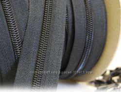 спиральная молния рулонная YKK цвет черный