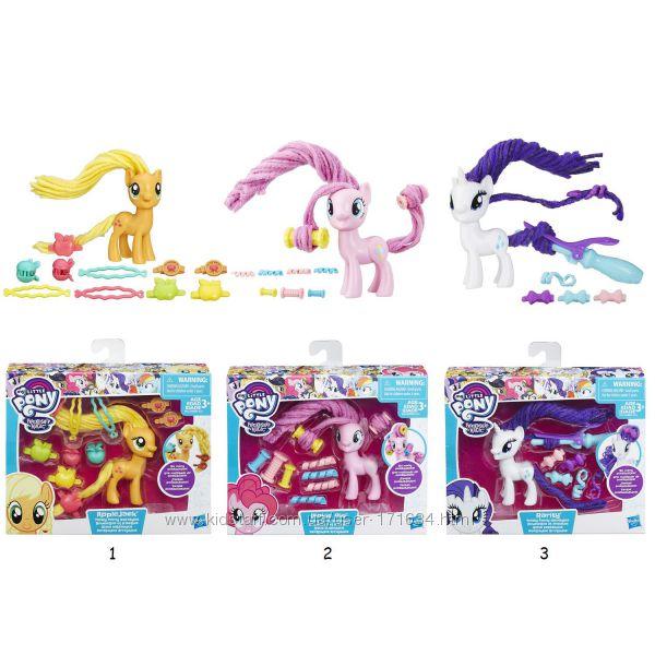 Пони с праздничными прическами My little Pony Pinkie Pie Rarity Applejack