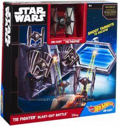 Hot Wheels Star Wars TIE Fighter Blast-Out Battle Хот вилс Звездные Войны