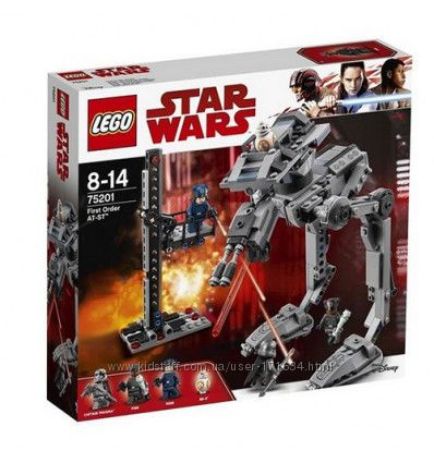 Lego Star Wars AT-ST Первого Ордена 75201 В Наличии Оригинал