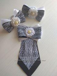 Декоративный галстук из лент