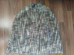 Пальто-пончо ткань букле