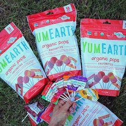 Органические леденцы YumEarth от IHerb. Разные вкусы. Упаковка 50 шт.
