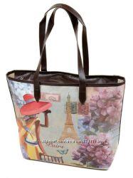 Женская сумка с принтом. В наличии