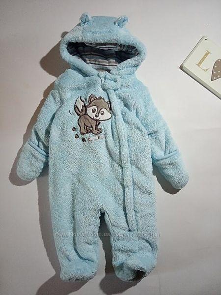Комбинезон для новорожденных голубой плюшевый мишка