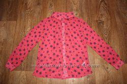Модная рубашка, блузка в звезды F&F на девочку 7-8лет. 122-128см.