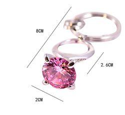 Брелок - кольцо с камнем. Авто брелок. Три цвета.