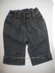 джинсовые шорты капри девочке на рост 92 см 2-3 года