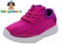Кроссовки Шалунишка для девочек 500-315 фиолетово-малиновые текстиль. 25-30