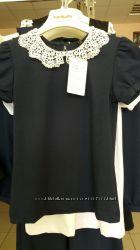 Блузка с ажурным воротничком SMIL на девочку все цвета и размеры