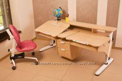 Детская парта трансормер Эргономик для двоих детей